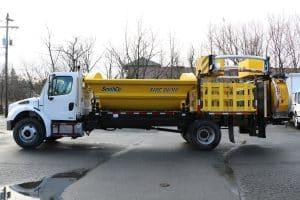 Royal Freightliner Side Dump Attenuator Truck