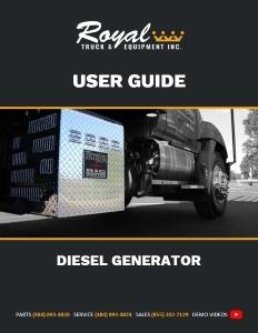 cover_Diesel Generator User Guide