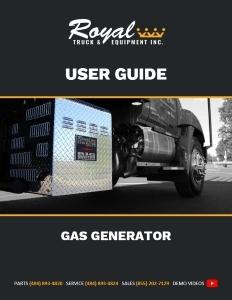cover_Gas Generator User Guide